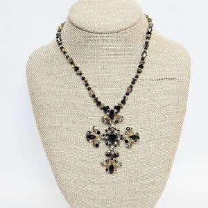 💥3 for $25💥 Black & Gold Cross Necklace
